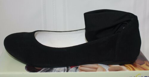 Primigi Girls Ginni Ankle Strap ballet flats black suede NEW WITH BOX