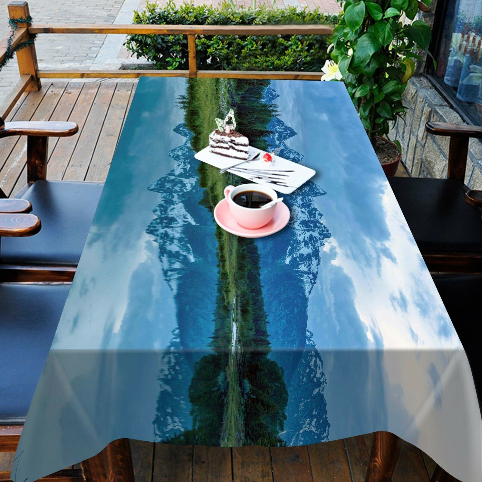 3D lac Shadow Nappe Table Cover Cloth fête d'anniversaire AJ papier peint Royaume-Uni Citron