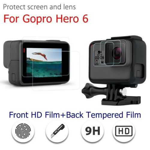 Shockproof HD Tempered Glass Screen Protector For GoPro Hero 6 Lens+LCD Screen