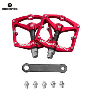 RockBros-Bicycle-Pedals-Road-Bike-MTB-Carbon-Fiber-Sealed-Bearings-Pedals-Red