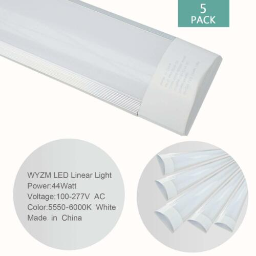 10 Pack 4FT 44W Linear LED Wraparound Light Flushmount Shop Light for Garage