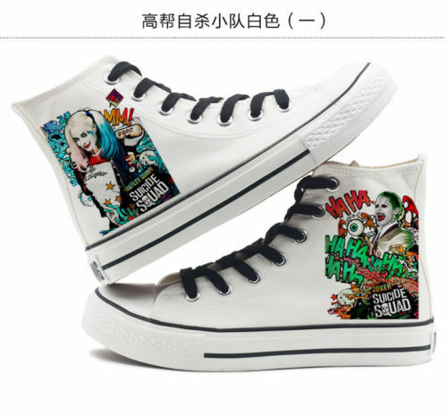 New Suicide Squad The Joker Harley Quinn Men and women High top canvas sneakers