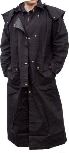 5xl reitmantel Polvo abrigo Duster reitmantel impermeable negro S