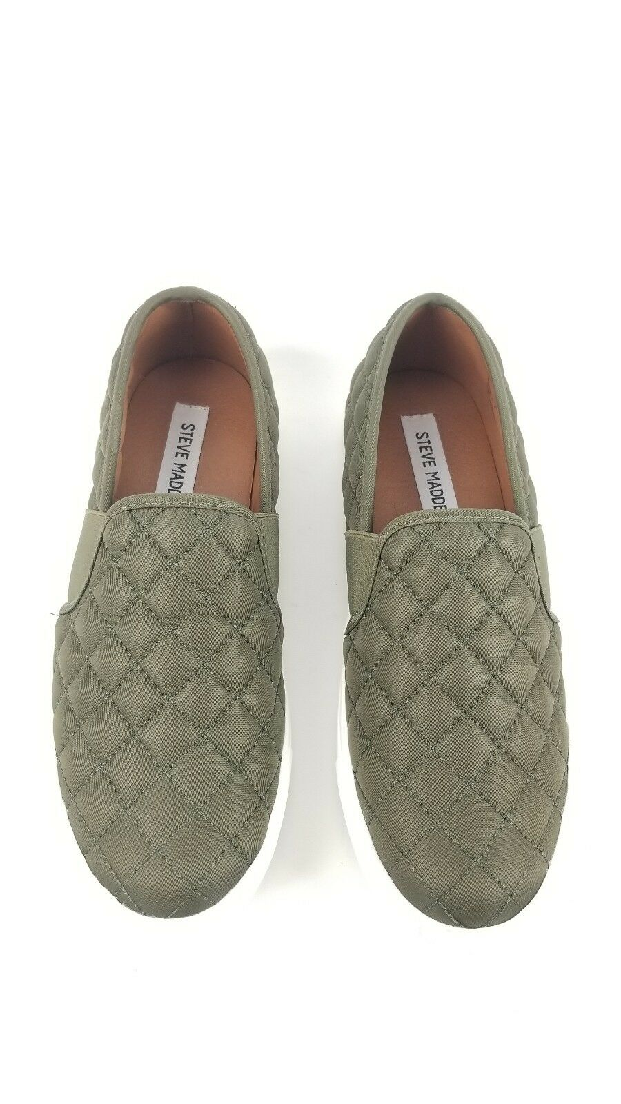 New Steve Madden Madden Madden damen Größe 8 Flats Leather Endell Olive Slip On 52d3f6