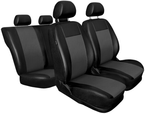 CAR SEAT COVERS fit Audi A4 Leatherette full set Black//Grey
