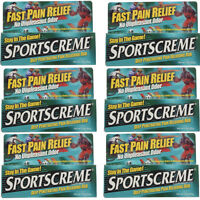 6 Pack Sportscreme Rub 3 Oz Each on sale