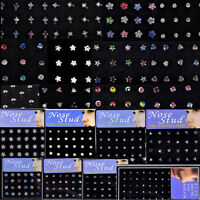 CHIC Women Wholesale Body Jewelry Mix Lots of Pierce Nose Studs Piercing+Display