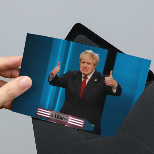 Boris Johnson Thumbs Up Photo 6x4 inch Un-signed with Unsealed Gift Envelope