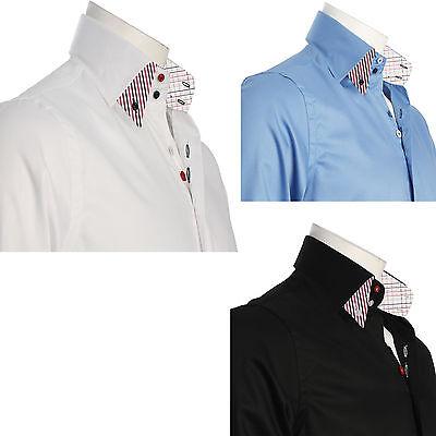 Men/'s Formal Shirt Men Italian Dress Double Collar Designer Casual Luxury Shirts