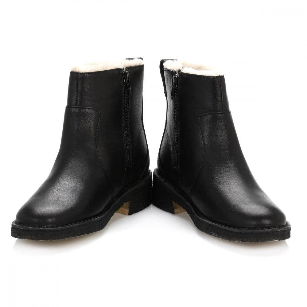 Clarks Damas Maru puede Negro botas al Tobillo Tobillo Tobillo de Cuero Forrado De Piel Sintética, Reino Unido 4, 6.5, 7, 8 a87308