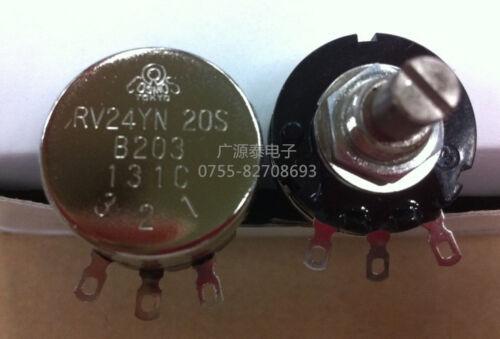 Knob 20K OHM Long Life Panel Pot W COSMOS//TOCOS RV24YN 20S B203 Potentiometer