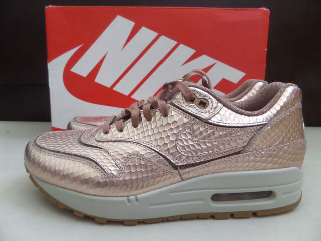 sale retailer a552a 40d65 women nike air max 1 cut out metallic ebay