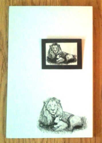 Lion and Lamb 2 Piece Set-Notepad and Magnet New