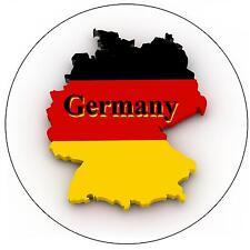GERMANY MAP / FLAG - ROUND SOUVENIR FRIDGE MAGNET - NEW - GIFT
