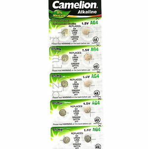 AG4  Alkaline Batteries G4 LR626 LR66  GP77A 177  377 by Camelion   Battery x10