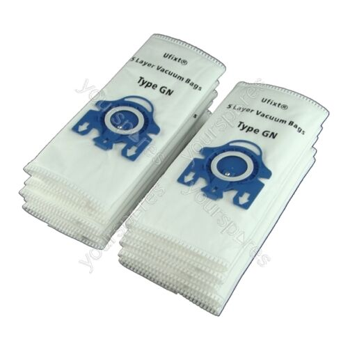Pack Of 10 Miele S2120 Vacuum Bags Type GN *Free Delivery*