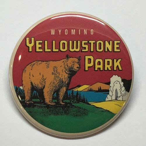 "BOGO Yellowstone Park Wyoming Vintage Style Fridge Magnet 2 1//4/"" Buy 1 Get 1"