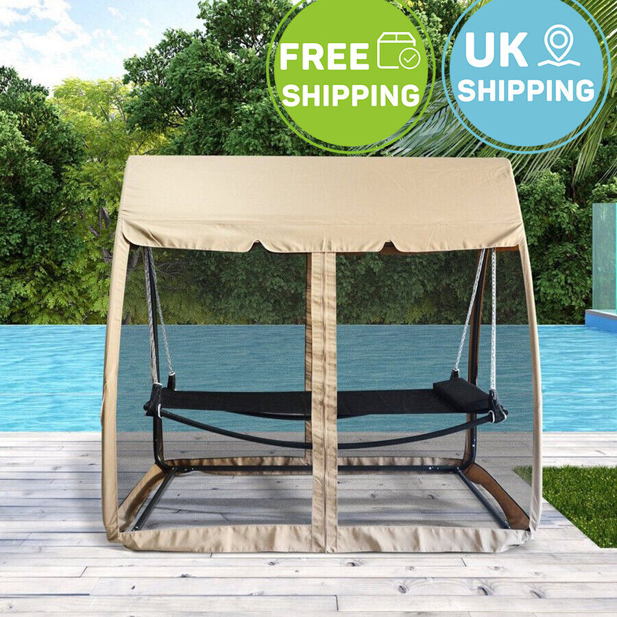 Patio Swing Chair Hammock Outdoor Garden Bed With Sunshade Mosquito