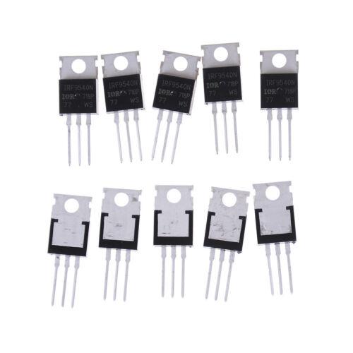 10PCS IRF9540 P-Channel Power mosfet 23A 100V TO-220  X W0DE ZV PK