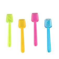 1000 Eislöffel PS 9,3 cm neon bunt Einwegeislöffel Plastikeislöffel