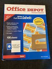 Office Depotavery Peel Mailing Label 5165 850 Width X 11 Length 93box