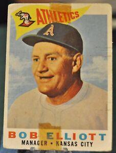 1960-Topps-Baseball-Card-215-Bob-Elliot-Athletics-VG