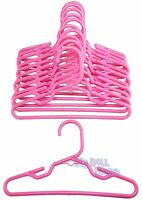 12 Pink Hangers Plastic One Dozen Fit 18 American Girl Doll Clothes Hangers Dog