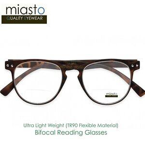 84ff258fc21e MIASTO ROUND PREPPY READER READING GLASSES+1.25 LIGHT   FLEXIBLE ...