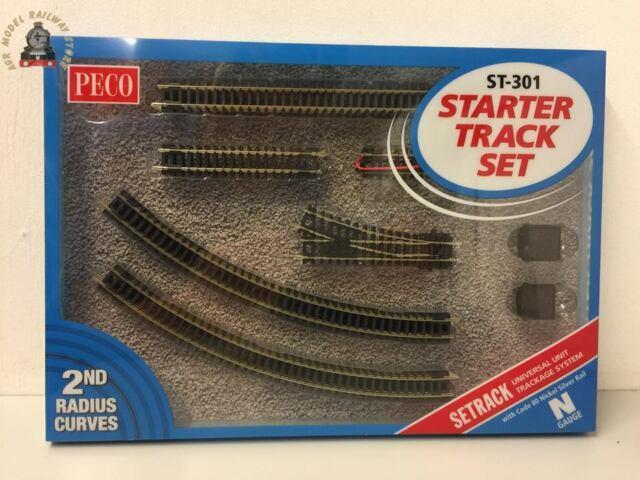 PECO ST-3012 4 x N0.1 Radius N Gauge Double Curve Setrack Code 80 Rail ST12