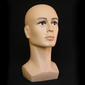 Coffee-Color-Male-Mannequin-Head-Hat-Display-Wig-Training-Head-Model-Head-Model