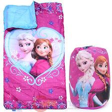 Disney Frozen Kids Sleeping Bag Elsa Anna Slumber With Carry Backpack