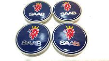 4 x SAAB Alloy Wheel Centre Hub Caps Set 63mm 9-3 9-5 900