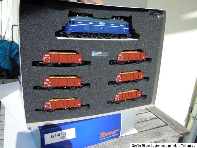 Roco 61413 Set Treni con E-Lok 1000 Blu di NS Ep. 4, Dss Nuovo in Confezione