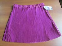 $24 Macy's Grane Juniors Pleated Above Knee Skirt Plumberry X-large W: 30