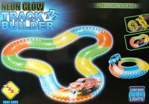 Créer une route Fluo Glow Edition Range Rover Voiture Piste Garçons Filles Jouets 120PCS