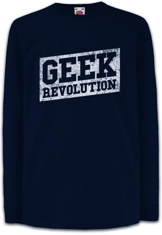 Geek Revolution Kids Long Sleeve T-shirt Game Gamer Gaming Computer Science Fun