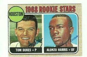 Alonzo-Harris-amp-Tom-Dukes-1968-Topps-signed-auto-autographed-card-Astros