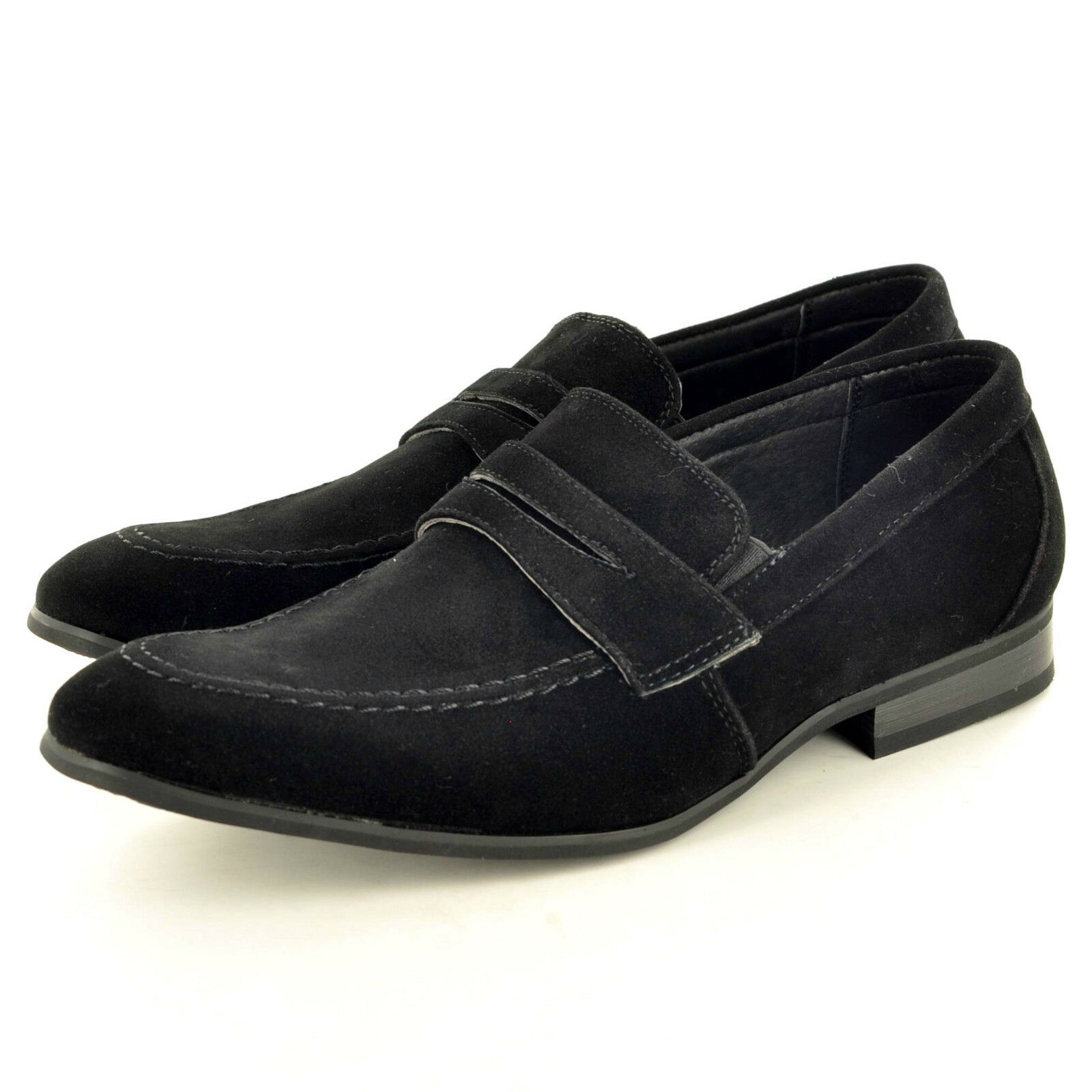 New Men's On black Leather Lined Slip On Men's Suede Loafers Driving Shoes  UK Size 6-11 01d554