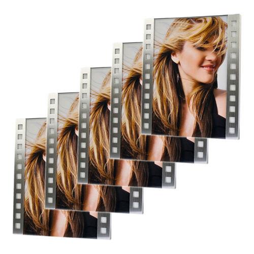 """5x Images-cadre /""""GLASGOW/"""" 10x15 cm hama Cadre photo métal"""