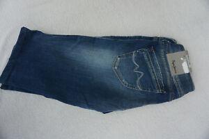 PEPE-JEANS-Grace-Short-bermuda-carpri-stretch-sommer-3-4-Hose-W31-blau-NEU-C10