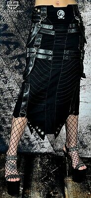 Cryoflesh Rivethead Cyber Goth Punk Rave Industrial Apocalyptic Skirt