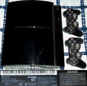 PLAYSTATION-3-PS3-JAPAN-CECHA00-60GB-2006-LAUNCH-WITH-2-CONTROLLERS