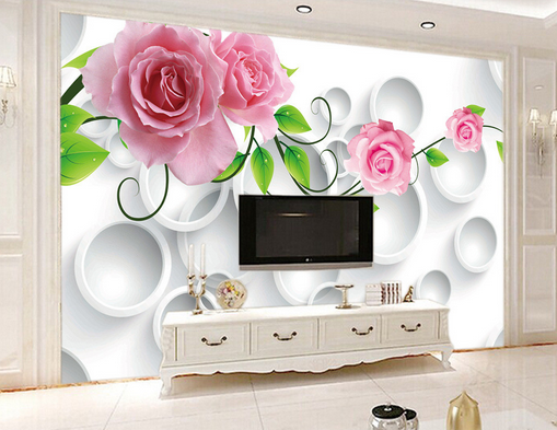 3d Weiss Circle Inflorescence 7 Wall Paper Wall Decal Wall Aj