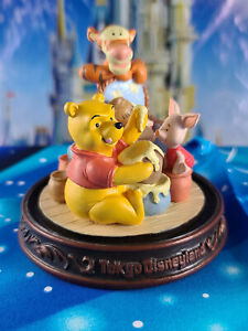 Disney Tokyo Disneyland Winnie the Pooh Figurine Piglet Tigger Hunny Pot