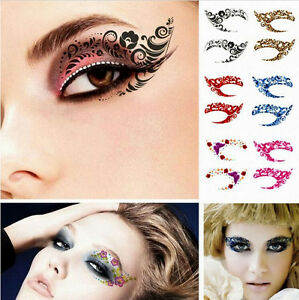 Details About Eyeliner Eyelid Temporary Tattoo Sticker Makeup Eye Shadow Hot Party Make Up