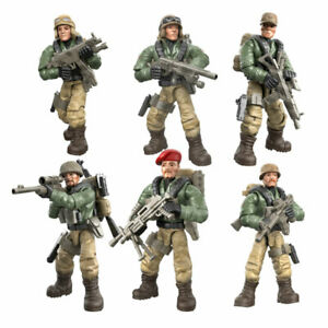 6pcs//set Military Special Force Combat Team Building Blocks Bricks Children Toys