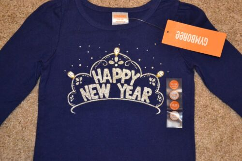 NWT Gymboree 12-18 Months Long Sleeve Blue /& Silver Jewel Happy New Year Shirt
