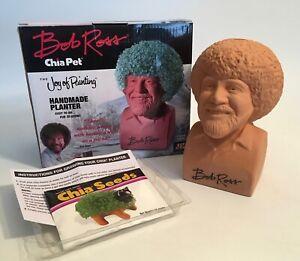 Bob Ross Joy Of Painting Chia Pet Handmade Planter In Complete Box
