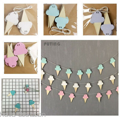 10 Pcs Wooden Banners Swan Shape Wood Chips DIY Home Wall Decor Fashion