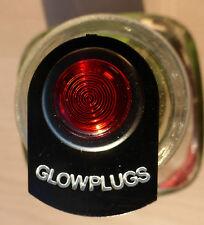 Land Rover Series 2 2a 3 LED Illuminated Glowplugs Warning Tag Light Chrome